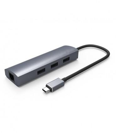 مبدل USB C به LAN و هاب 3 پورت USB 3.1 فرانت
