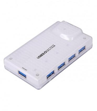 هاب 4 پورت USB 3.0 فرانت با آداپتور و پورت شارژ