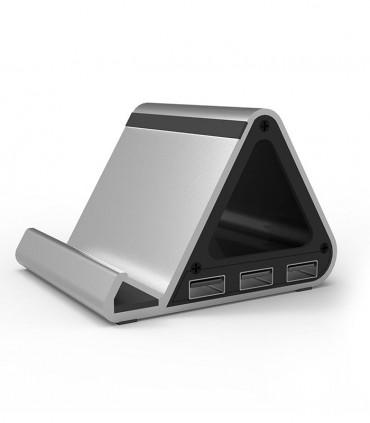 هاب 4 پورت استند USB 3.0 فرانت با آداپتور