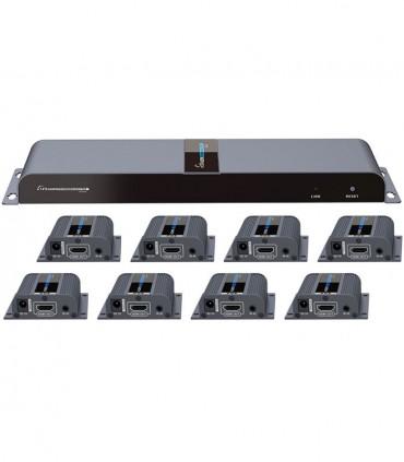 اسپلیتر-اکستندر HDMI لنکنگ Lenkeng LKV718Pro 1X8