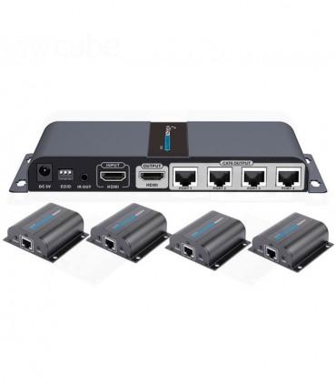 اسپلیتر-اکستندر HDMI لنکنگ Lenkeng LKV714Pro 1X4