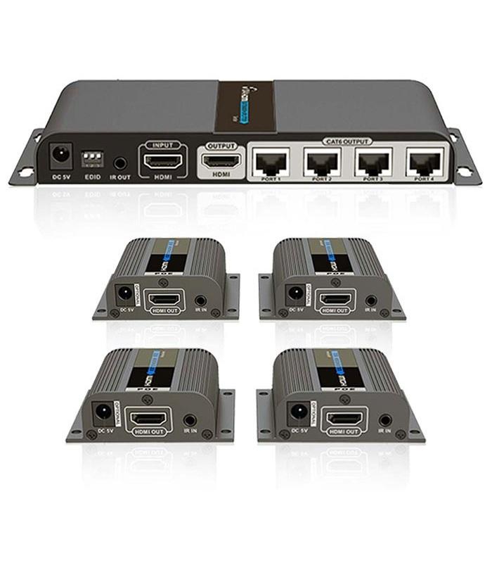اسپلیتر اکستندر 4 پورت HDMI لنکنگ Lenkeng LKV714 Pro