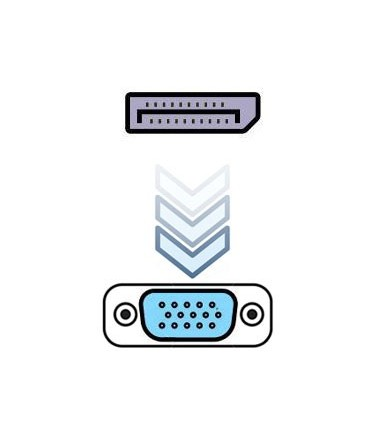 مبدل DisplayPort به VGA