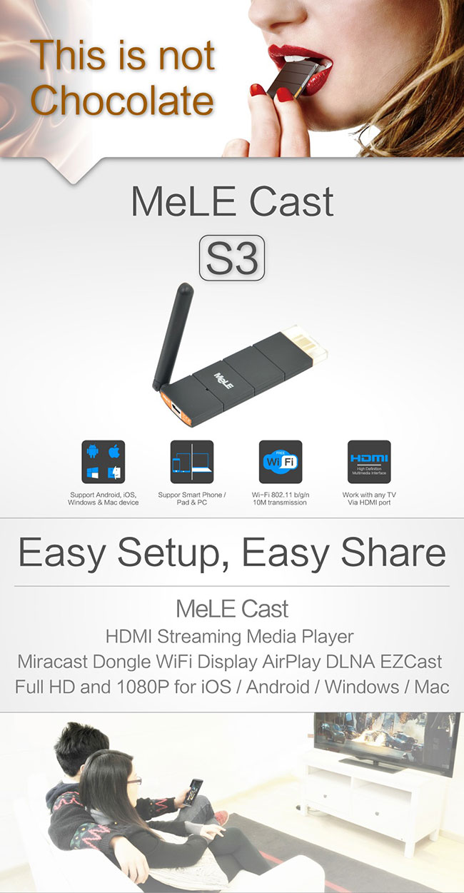 Mele Cast S3 HDMI Dongle