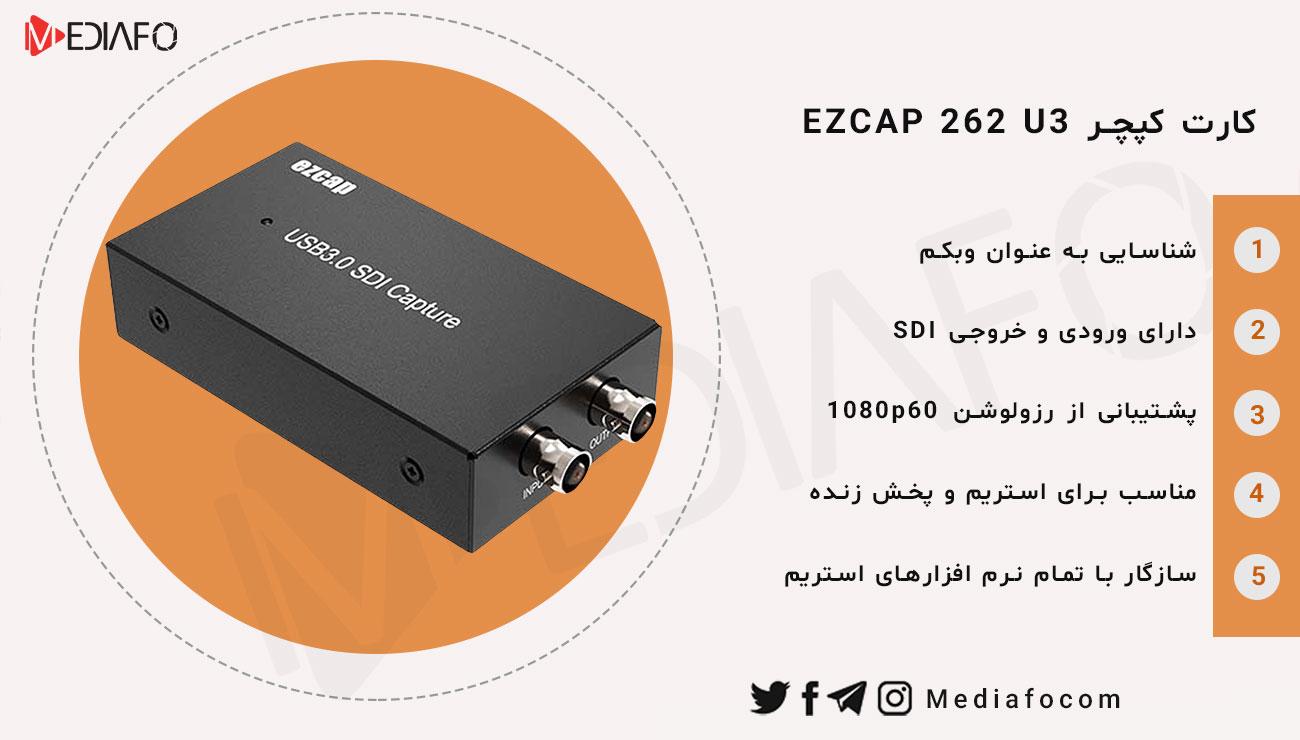 اینفوگرافی کارت کپچر ezcap 262